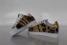 scarpe adidas super star con cavallino maculato e oro