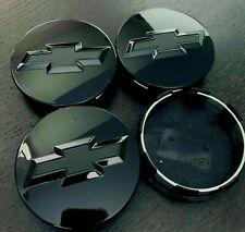 4 Gloss Black Wheel Rim Center Hub Caps For Chevy Silverado Suburban Tahoe 83mm