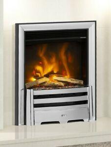"ELECTRIC INSET FIRE MODERN LED FLAME ELGIN & HALL PRYZM 16"" DEVOTION BRANTLEY"