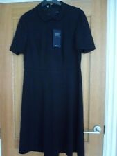 BNWT M&S BLACK SHORT SLEEVED BUSINESS/ WORK DRESS WITH STRETCH SIZE 14