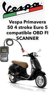 Vespa Primavera 50 4 stroke Euro 5 Compatible OBD FI SCANNER