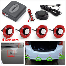 Universal Flat White Car Parking 4 Sensors Reverse Backup Radar Buzzer Alarm