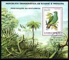 Oiseaux Saint Thomas et prince (18) bloc oblitéré