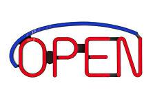 NEW BRIGHT STORE LED OPEN SIGN BLUE COLOR RESTAURANT BAR BUSINESS LIQUOR N95L