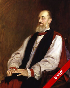 Mandell Creighton Historian & Church of England Bishop Real Canvas Art Print
