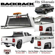 12500 BackRack Louvered Black Headache Rack Fits Silverado / Sierra 2007-2018