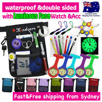 Nurse Pouch FOB Luminous Watch Extra Pocket Waist Strap Pick Bag Holder Penlight
