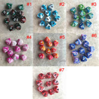 10 pcs/Set 10 Sided Dice D10 Polyhedral Dice For Table Games DnD RPG MTG w/