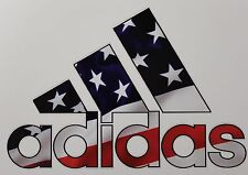 Adidas American US Flag Truck/Window Decals Stickers- Set of 3