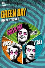 Vinyl Sticker / Aufkleber GREEN DAY - Trio Uno Dos Tre  ca9cm Rund NEU SK0151