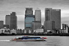 Canary Wharf Skyscrapers River Thames London Docklands England Photograph Photo