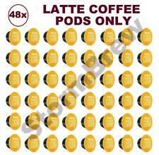 48x NESCAFE DOLCE GUSTO LATTE MACCHIATO COFFEE ONLY PODS (NO MILK CAPSULES)