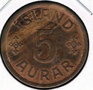 ICELAND - 5 AURAR 1926 XF KM# 7.1