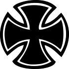 Round Maltese Cross Vinyl Sticker Decal Knights Iron Templar Choose Size & Color