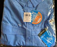 NEW COLUMBIA PFG Men's Low Drag Offshore SS Shirt BIG 5XL Coastal Blue Fishing