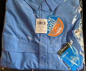 NEW COLUMBIA PFG Mens 5X Low Drag Offshore SS Shirt BIG 5XL Coastal Blue Fishing