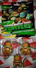 OfficialTeenage Mutant Ninja Turtles Blind Bag Mikey x 3 Keychains by Bonkers!