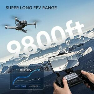 Ruko F11Gim2 Drone with 4K Camera for Adults, 3KM HD Video Transmission, 2-Axis