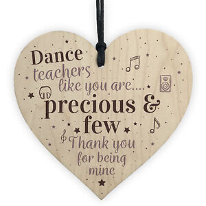 Dance Teacher Thank You Keepsake Gift Ballet Teacher Birthday Leaving Present