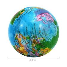 6.3cm Squeeze Ball Earth Print Stress Relief PU Hand Wrist Exercise Kid Toy hv2n