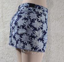 GUESS New Women's Skirts Denim Distressed Mini Skirt SZ 24 blue 100% Authentic