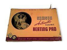 Vintage Samson Electric Heating Pad in Original Box Working Very Cushy 1950