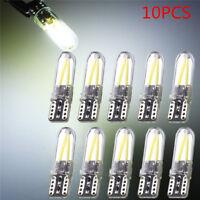 10x Bright White T10 194 168 W5W COB LED CANBUS Silica Glass License Light Bulbs