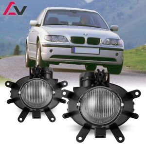 02-05 For BMW E46 3 Series Clear Lens Pair Fog Light Lamp Replacement