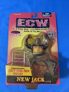 ECW Extreme Championship Wrestling New Jack Action Figure NOC 1999
