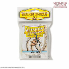 DRAGON SHIELD - Classic Standard Card Sleeves WHITE Pack of 50 #AT-10105