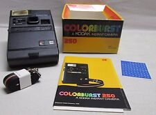 Vintage Eastman Kodak Colorburst Instant Camera 250 in Box with Instruction Book
