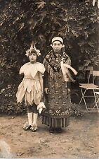 BJ072 Carte Photo vintage card RPPC Enfant femme déguisement indiens fée costume