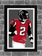 Atlanta Falcons Matt Ryan Portrait Sports Print Art 11x17