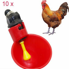 10x Automatisch Geflügeltränke Hühnertränke Hühner Vogel Tränke Trinkbecher H