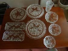 Walther-Glas-Set, 7-teilig, Tortenplatte, Kuchenplatte, Schale, Vase