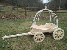 Small Angel Carriage (wedding wagon)- unfinished and ready to paint