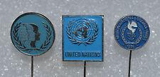 UN United Nations vintage political lapel stick pin badge Anstecknadel lot