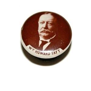 1908 WILLIAM TAFT LAPEL STUD campaign pin pinback button political presidential