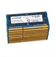 40GB Crucial 4GBx10pcs 2RX8 PC3-12800S DDR3-1600Mhz SODIMM Laptop Memory RAM KIT
