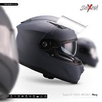 SOXON ST-1000 MONO NAVY INTEGRAL-HELM ― FULL-FACE MOTORRAD-HELM ROLLER ― XS–XXL