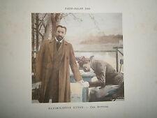 Gravure 19° 1899 couleur Peinture Maximilienne Guyon Une rupture bord de l'eau
