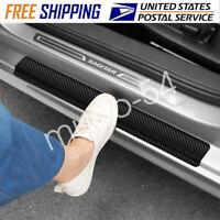 for Chevrolet Captiva Door Sill Protector Reflective 4D Carbon Fiber Sticker Door Entry Guard Door Sill Scuff Plate Stickers Auto Accessories 4Pcs White