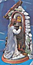 CERAMIC BISQUE JESUS KNOCKING ON DOOR~LIGHT KIT INCL.- READY TO PAINT