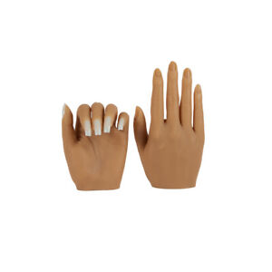 KnowU Silicone Nail Practice Hand Left Or Right Can Use Acetone Acrylic Inserted