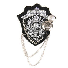Vintage Silver Chain Men Women Brooches Brooch Pin Army Costume Party Badge