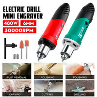 30000RPM 480W Mini Electric Drill Grinder Engraver Drilling Carving Polishing