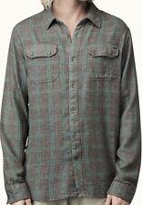 REEF Men's LEUCADIAN L/S Shirt - Brown - Large - NWT