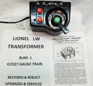 LIONEL LW TRANSFORMER - 125 WATT - RESTORED, UPGRADED & SERVICED !!