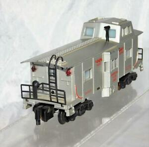 American Flyer 24633 Silver Deluxe Bay Window Illuminated caboose PM couplers S