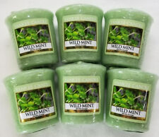 Yankee Candle Votives: WILD MINT Wax Melts Lot of 6 Green New Fresh